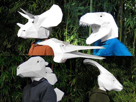 Papercraft Dinosaur - fantastic papercraft mask patterns
