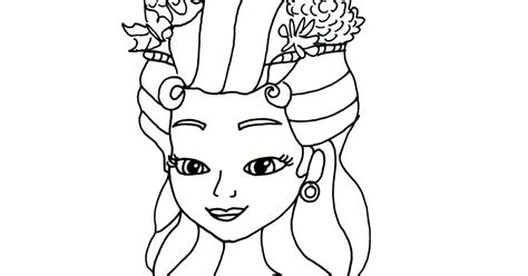 Sofia The First Coloring Pages Princess Hildegard Sofia Princess Hildegard Printable