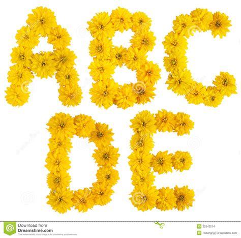 floral alphabet a b c d e stock photo image of