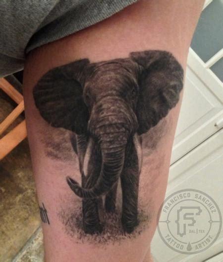 realistic elephant tattoo by francisco sanchez tattoos