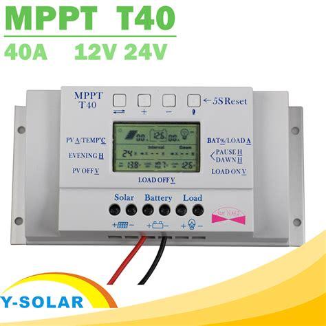 Sale 40a aliexpress buy mppt t40 40a solar charge regulator