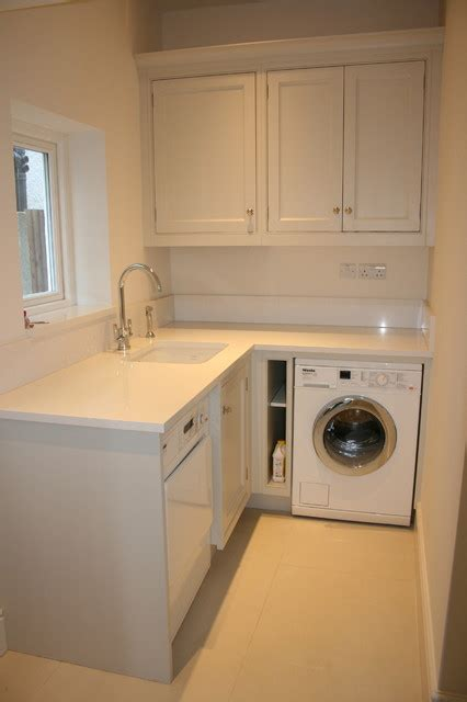 Kitchen Utilities by Open Plan Living Space Transitional Utility Room