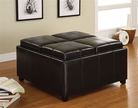 tray top storage ottoman elvina tray top storage ottoman from furniture of america