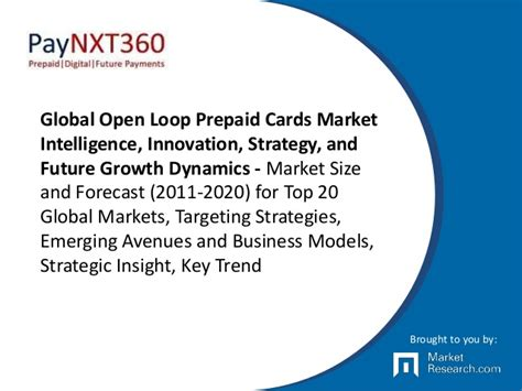 Open Loop Gift Cards - global open loop prepaid cards market intelligence innovation strat