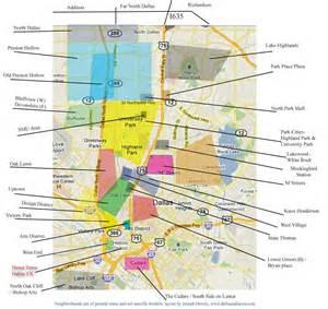 map of dallas neighborhoods dallas oak lawn area neighborhood map