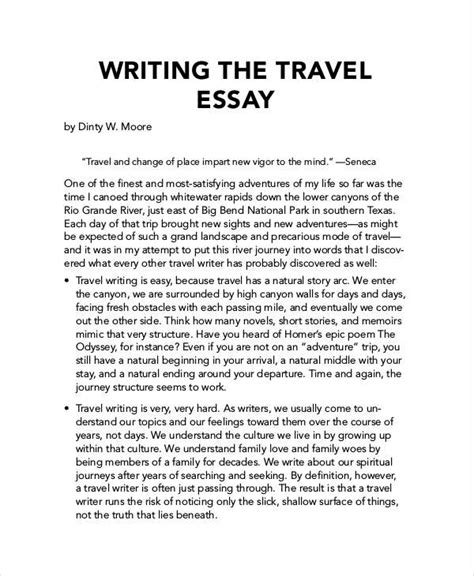 How To Write An Essays by 4 Travel Essay Exles Sles