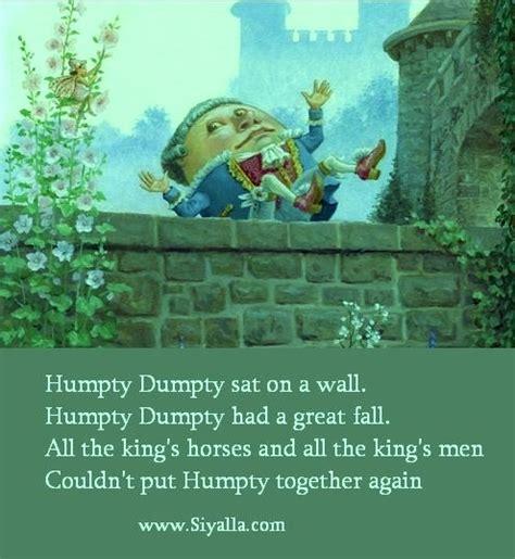 full humpty dumpty nursery rhyme humpty dumpty nursery rhymes kids poems poems for