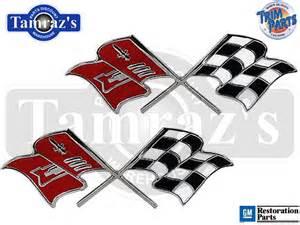 chevy cross flags emblem autos post