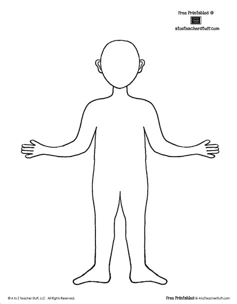 free coloring pages of child body outline