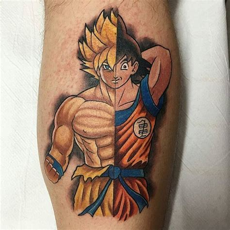 dbz tattoos 34 best goku images on ideas
