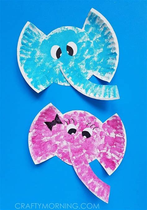 safari crafts for paper plate elephant craft for to make adorable