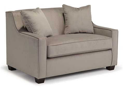 marinette size sleeper chair with toss pillows by
