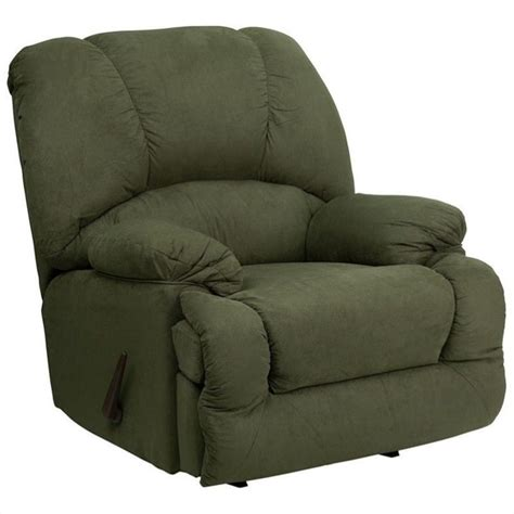 Chaise Rocker Recliner by Glacier Chaise Rocker Recliner In Olive Am