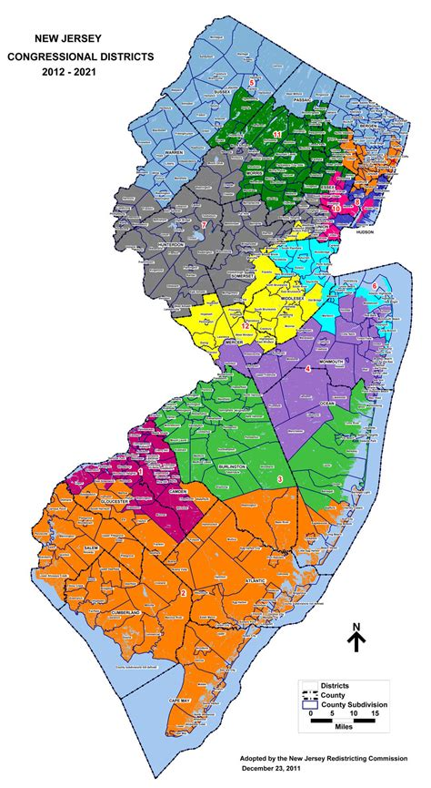 Find In New Jersey New Jersey Congressional Districts Map Find A Us Representative