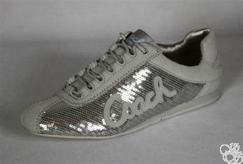 silver sequin sneakers coach casual dress silver sequins womens sneakers