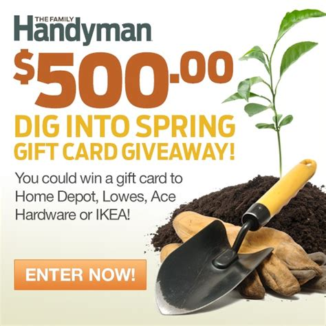 Handyman Gift Card - contests promotions