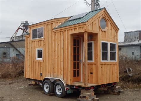 small homes on wheels 8x16 cross gable tiny house on a trailer