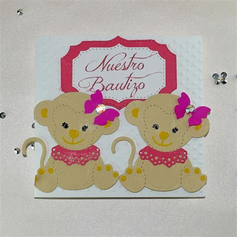 Baby Shower Invitaciones Para Ni O by Invitaci 243 N Para Bautizo O Baby Shower Quot Gemelitas Quot Ni 241 As