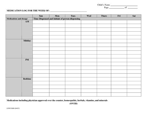 daily medication schedule template search results for what is medication administration
