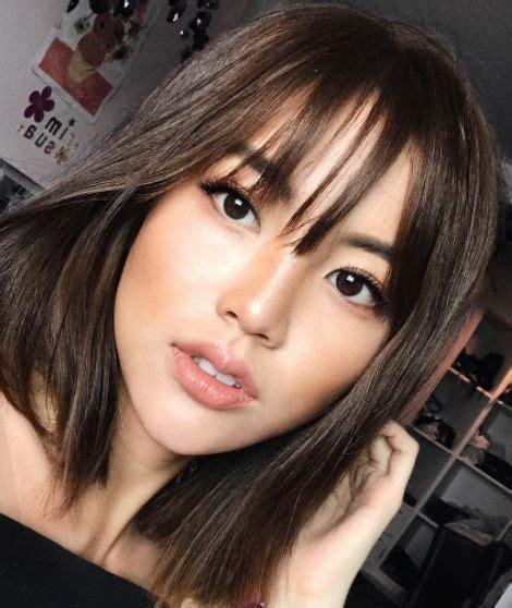 hair bond wirh chinese bangs hairstyle best 25 asian bangs ideas on pinterest see through