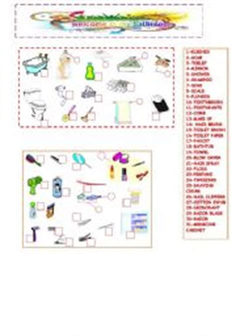 bathroom things names esl vocabulary worksheets for adults images frompo