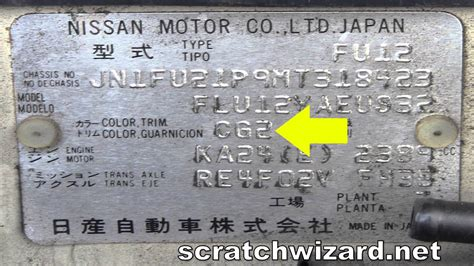 nissan blue paint code how to find your nissan paint code youtube
