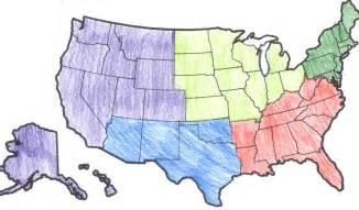 map of the 5 regions of the united states ms social studies what we re learning in fourth grade