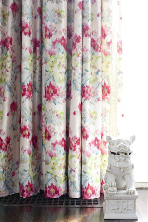 flower drapes floral curtains design ideas