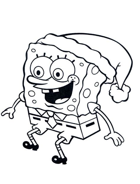 spongebob christmas coloring pages free printable christmas spongebob coloring pages az coloring pages