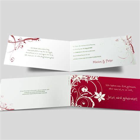 Hochzeitseinladung Dunkelrot by Hochzeitseinladung Stil Bl 252 Te