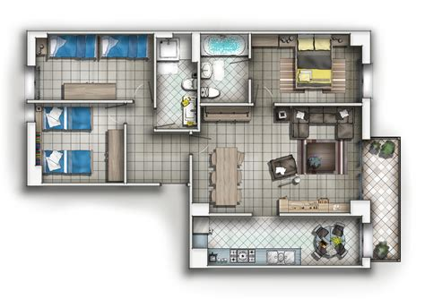 floor plan of residential house sub zero animation vfx residential house 2d