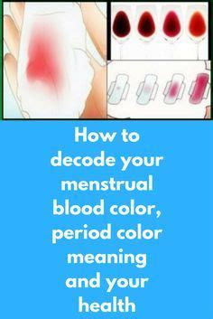 period blood color meaning how to decode your menstrual blood color period color