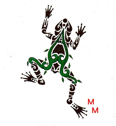 tribal frog tattoo green tree frog by mikaylamettler deviantart on