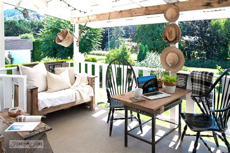 Summer Patio Rev With A Reclaimed Wood Farm Tablefunky Funky Patio Furniture