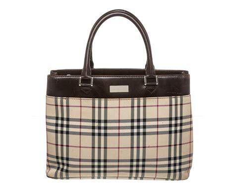 Burberry Plaid Shoulder Bag by Burberry Beige Brown Novacheck Plaid Canvas Leather