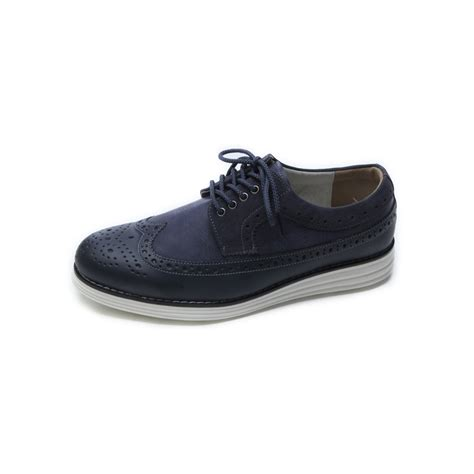 wing athletic shoes mens chic wing tip synthetic leather fashion sneakers