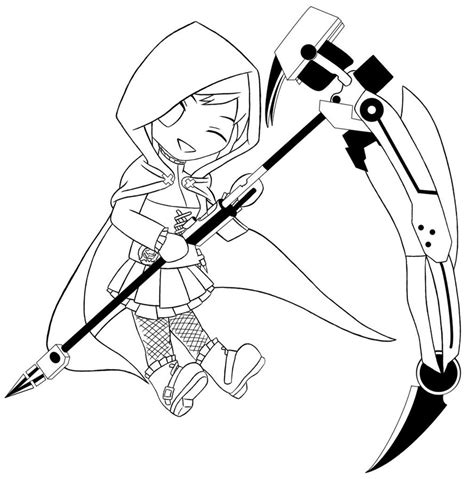 ruby rose coloring page chibi ruby rose by alexacedeath on deviantart