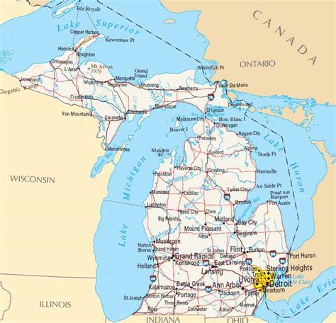 michigan roadmap state of michigan road map pictures to pin on