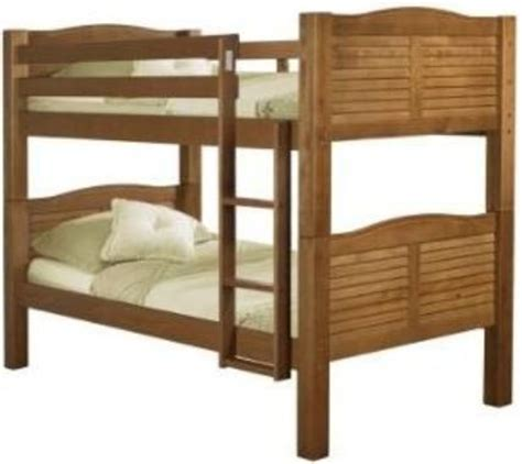 Linon Bunk Bed Linon 90066nn50 A Kd Shutter Bunk Bed Pecan Finish Constructed Of Solid Pine