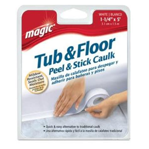 bathtub caulking strips magic 1 1 4 in x 5 ft tub and floor peel and stick