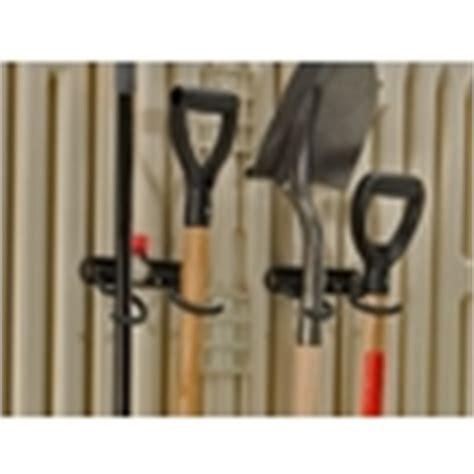 Rubbermaid Garden Tool Rack by Shop Rubbermaid Black Steel Storage Shed Tool Hanger Rack