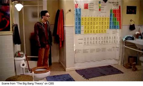 The Big Bang Theory Periodic Table Of Elements Shower Curtain