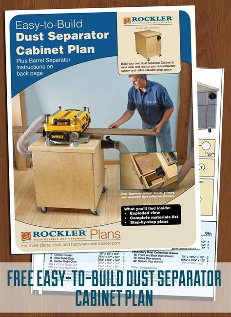 Rockler Dust Right® 4'' Dust Separator Components, with
