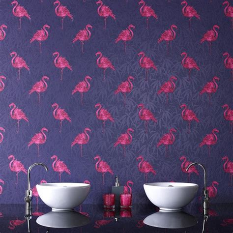 flamingo wallpaper bathroom graham brown s wall covering day by day
