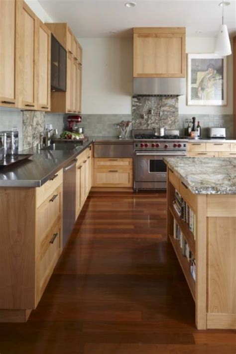 wood kitchen cabinets with wood floors maple cabinets design ideas