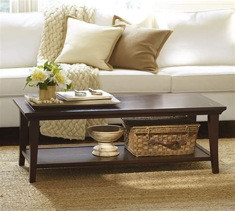 metropolitan coffee table metropolitan rectangular coffee table pottery barn