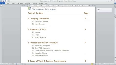 Event Management RFP Template   YouTube