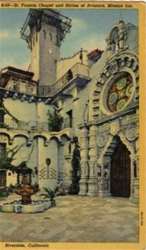 riverside california postcard st francis of assisi