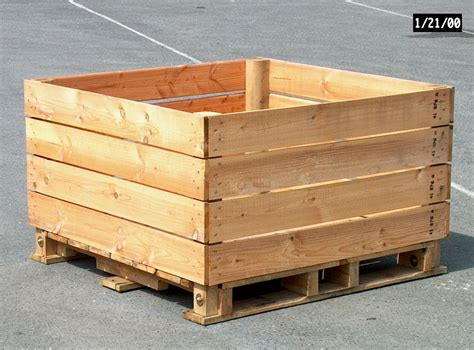 barbarie apple storage box type f 4 way entry pallet