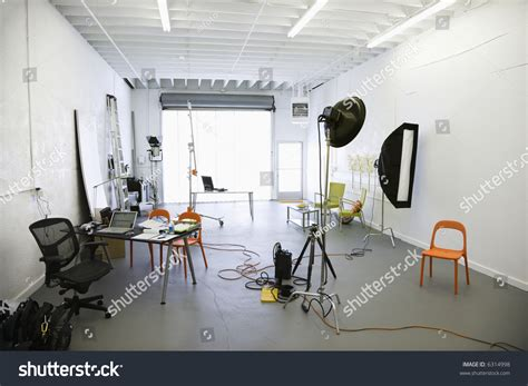 studio interior interior of photography studio with lights and various